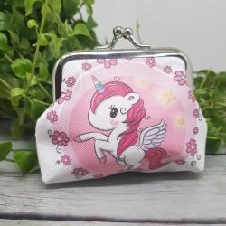 Monedero unicornio rosa