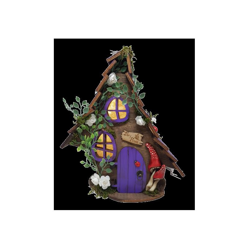 Casa de hadas morada