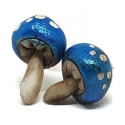 Pendientes setas azules
