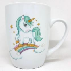 Taza desayuno unicornio