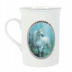 Taza con imagen de unicornio